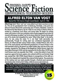 0015 - Alfred Elton Van Vogt -  SFWA Grand Master