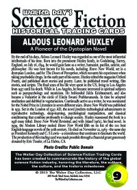 0009 Aldous Huxley