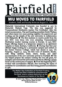 0010 MIU Moves to Fairfield