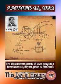 0029 - October 14, 1834 - 1st African-American patent