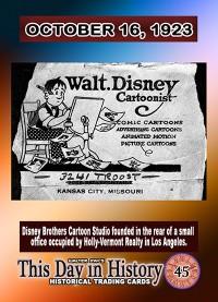 0045 - October 16, 1923 - Disney Brothers Cartoon Studios Founded