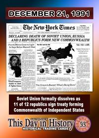 0053 - December 21, 1991 - Soviet Union Formally Dissolves