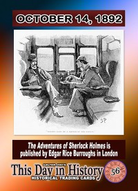 0056 - October 14, 1892 - Adventures of Sherlock Holmes is Published