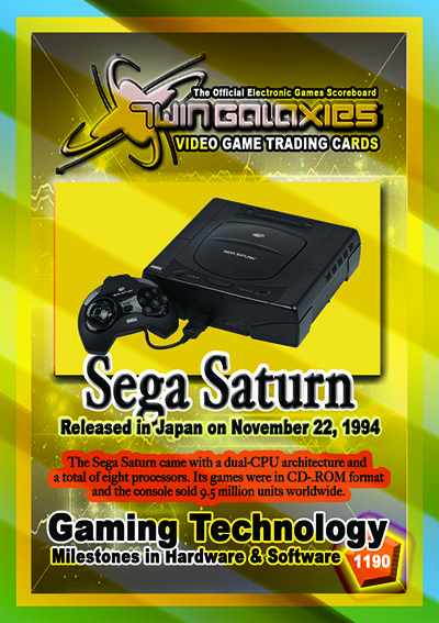 The Walter Day Collection - 1190 Sega Saturn Console