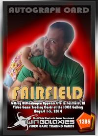 1285 JEFFREY WITTENHAGEN - FAIRFIELD AUTOGRAPH CARD