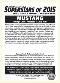 2016 Mustang Pool - Chicago Coin