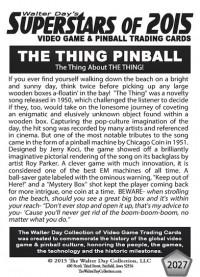 2027 Backglass The Thing Pinball