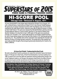 2040 High Score Pool - Chicago Coin