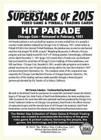 2043 Hit Parade - Chicago Coin