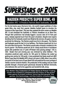 2096 Madden Predicts Patriots Win Superbowl