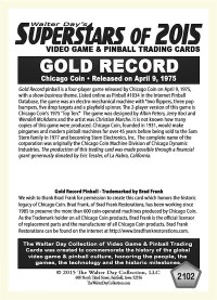 2102 Gold Record - Chicago Coin