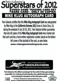 0300C - Mike Klug Autograph Card