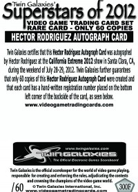0300F - Hector Rodriguez Autograph Card