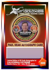 0300A - Paul Dean Autograph Card
